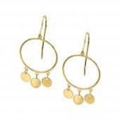 Σκουλαρίκια κρεμαστά χρυσά 14Κ - S1165_0