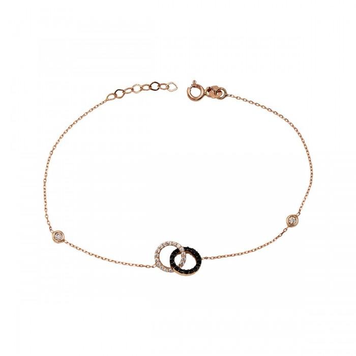 Βραχιόλι Ροζ Χρυσό 14Κ - BR1026