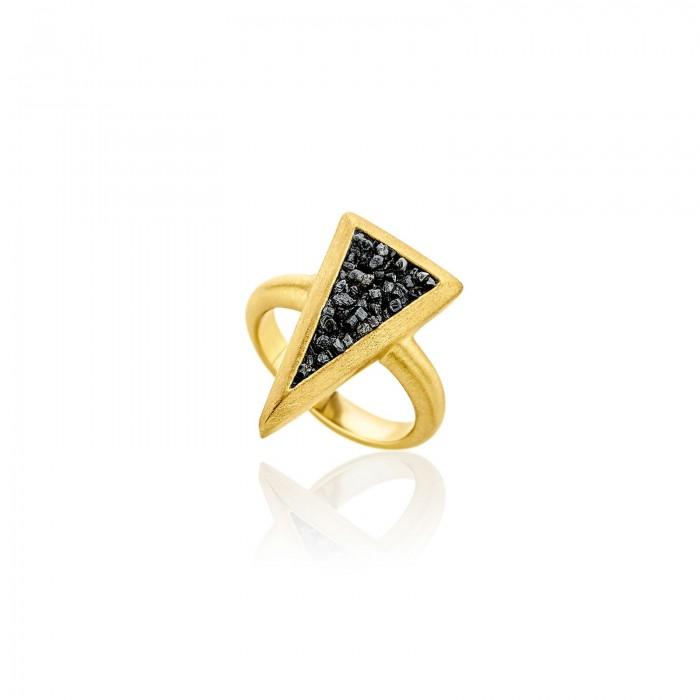 Small diamond triangle ring - SDR9YB