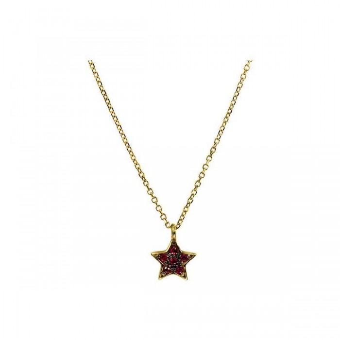 Κολιέ αστέρι χρυσό 14Κ - K1021