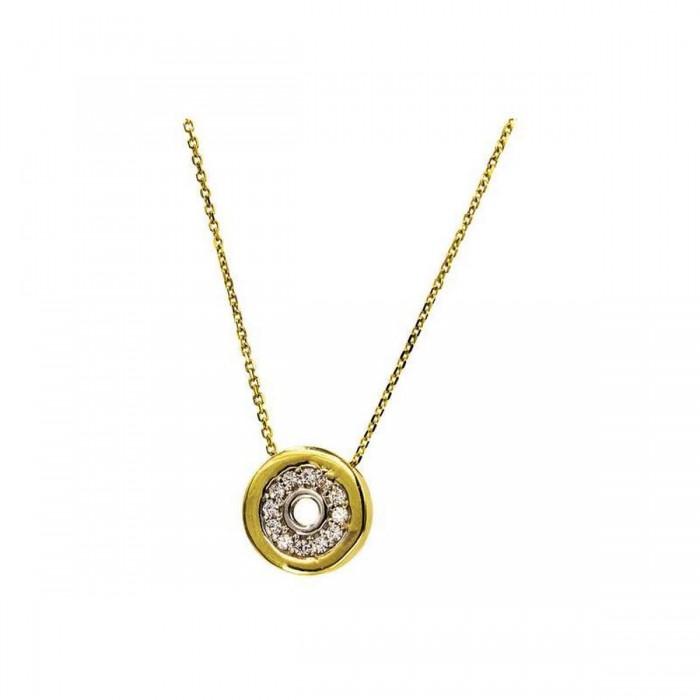 Κολιέ κύκλος χρυσό 14Κ - K1041