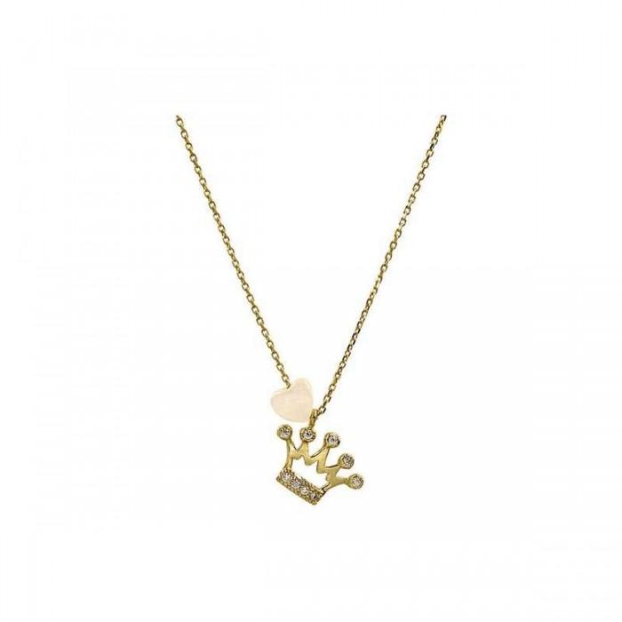 Κολιέ κορόνα χρυσό 14Κ - K1076