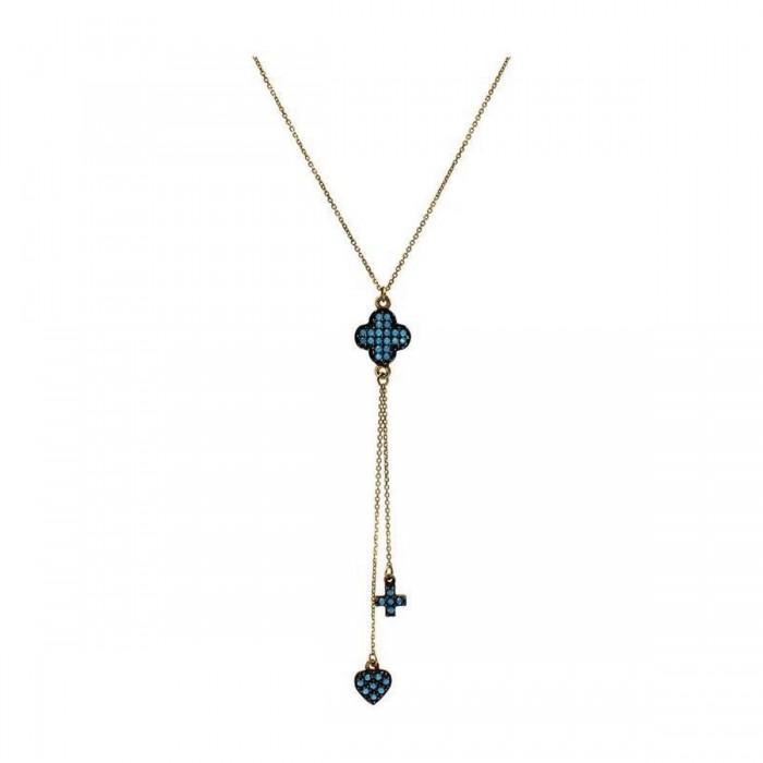 Κολιέ γραβάτα χρυσό 14Κ - K1090