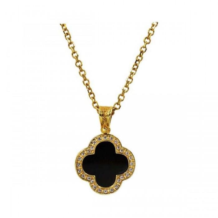 Κολιέ βανκλίφ χρυσό 14Κ - K1091