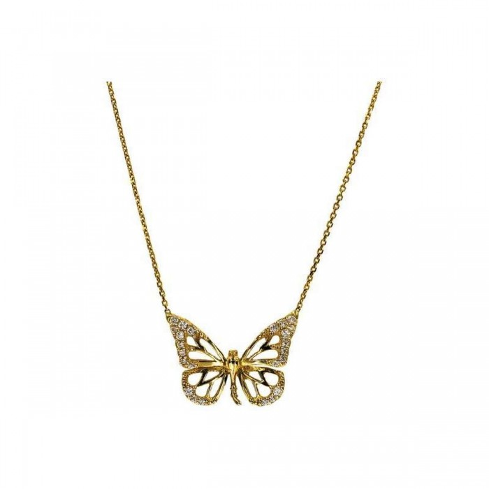 Κολιέ πεταλούδα χρυσό 14Κ - K1100