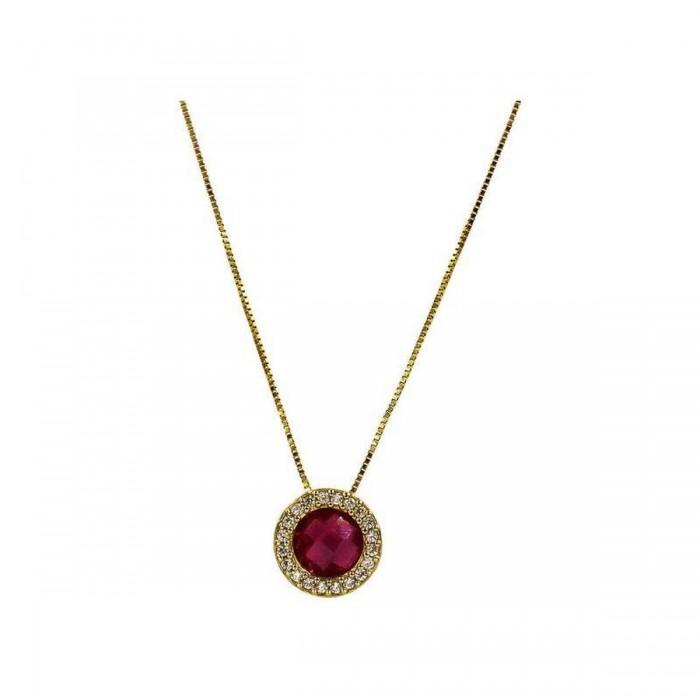 Κολιέ ροζέτα χρυσό 14Κ - K1102