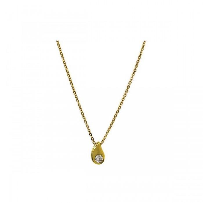 Μενταγιόν δάκρυ χρυσό 14Κ - K1109