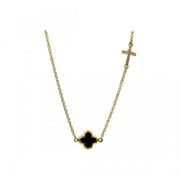 Κολιέ βανκλίφ χρυσό 14Κ - K1113