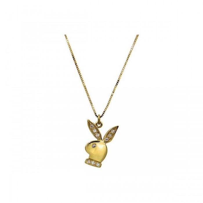 Κολιέ playboy χρυσό 14Κ - K1127
