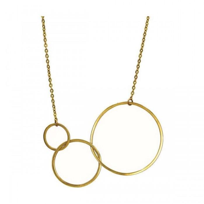 Κολιέ κύκλοι χρυσό 14Κ - K1194