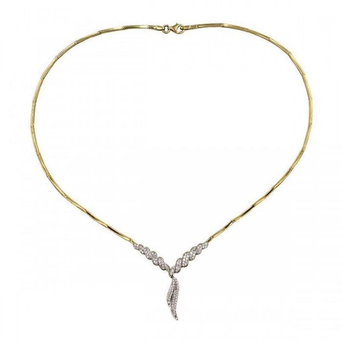 Κολιέ γραβάτα χρυσό 14Κ - K1235