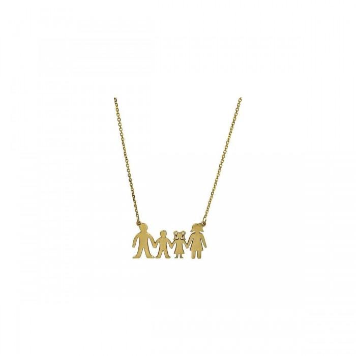 Κολιέ οικογένεια χρυσό 14Κ - K1266