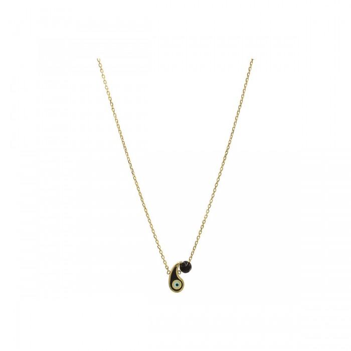Κολιέ ματάκι λαχούρι χρυσό 14Κ - K1285