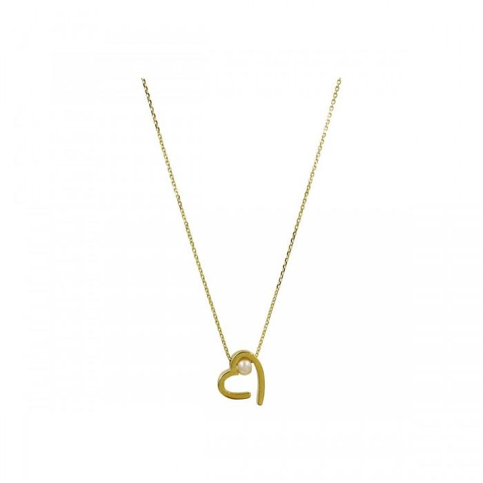 Κολιέ καρδιά χρυσό 14Κ - K1288