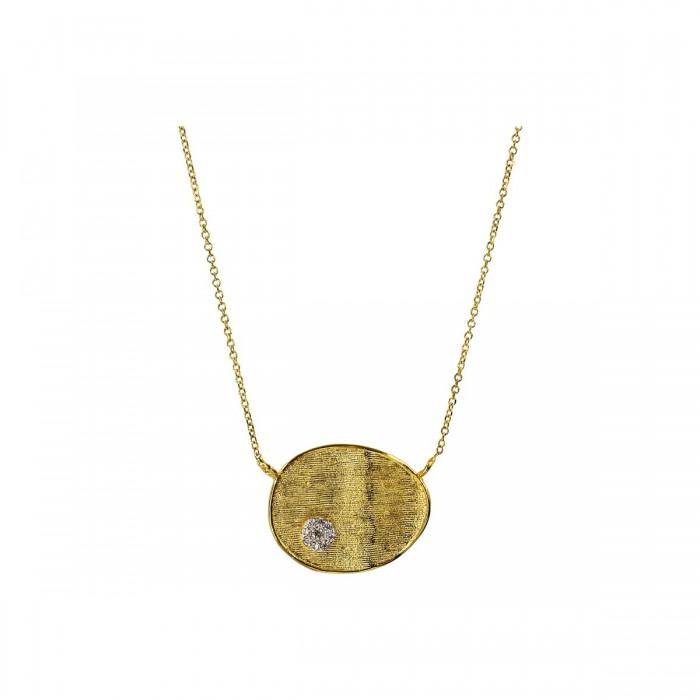 Μενταγιόν χρυσό 14Κ με ζιργκόν πέτρα - K1293