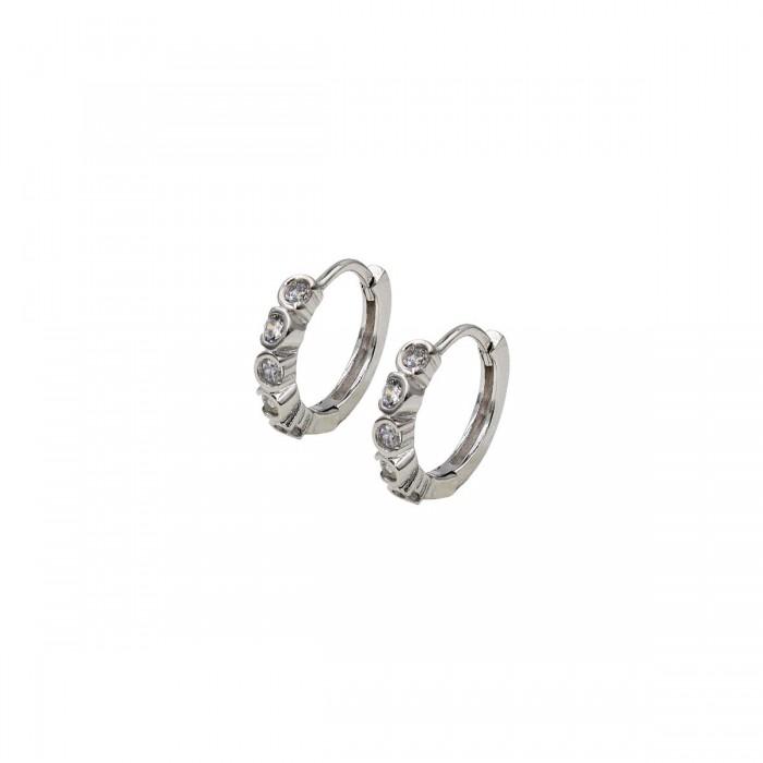 Lotus Style Silver σκουλαρίκια - LP1785-4/1