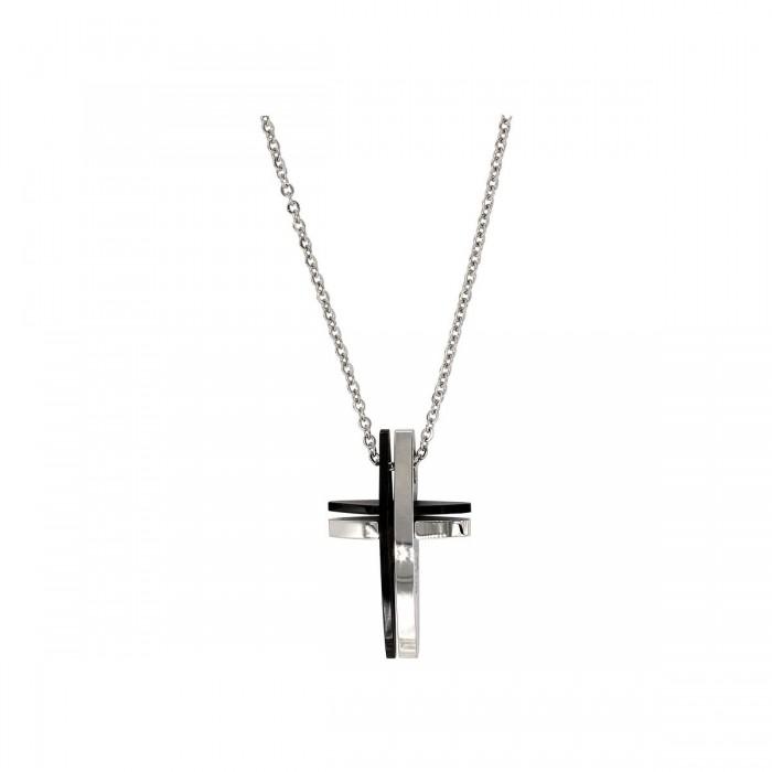 Lotus Style ανδρικός ατσάλινος σταυρός - LS1984-1/1