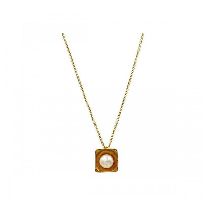 Κολιέ χρυσό 14Κ με μαργαριτάρι - MRK1014