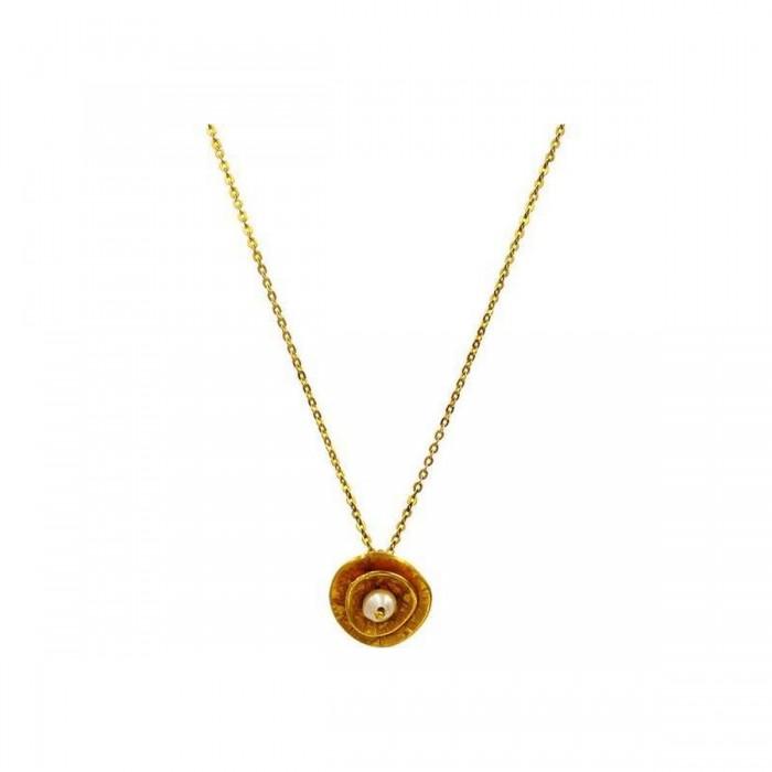 Κολιέ χρυσό 14Κ με μαργαριτάρι - MRK1015