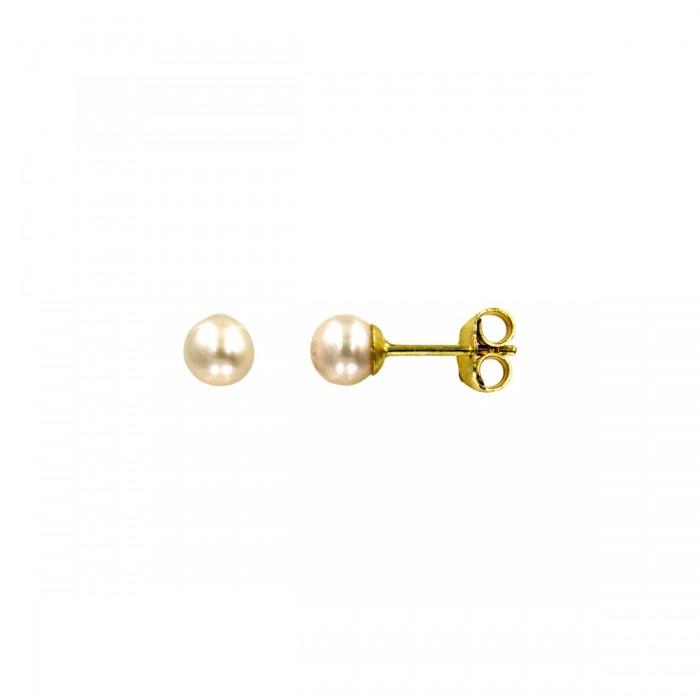Σκουλαρίκια χρυσά 14Κ με μαργαριτάρι - MRS1001