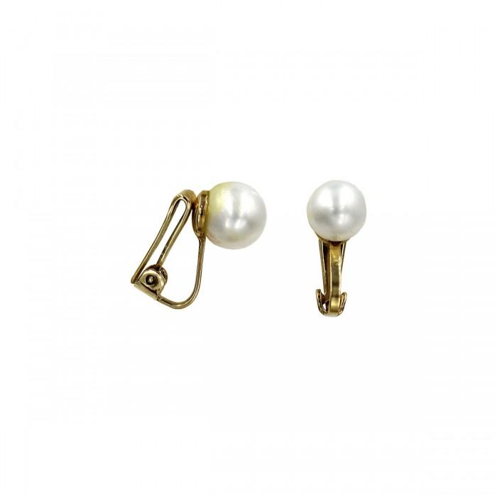 Σκουλαρίκια με κλιψάκι χρυσά 14Κ με μαργαριτάρι - MRS1007