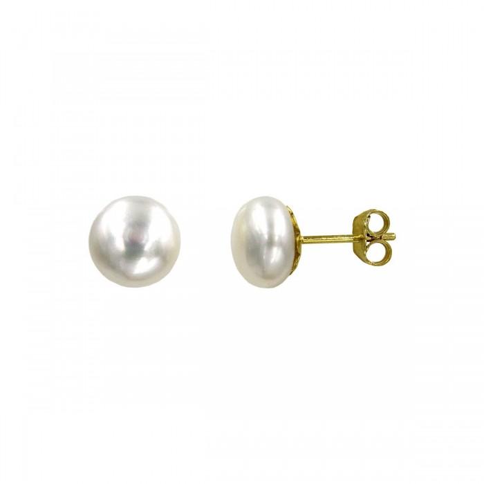 Σκουλαρίκια χρυσά 14Κ με μαργαριτάρι - MRS1008