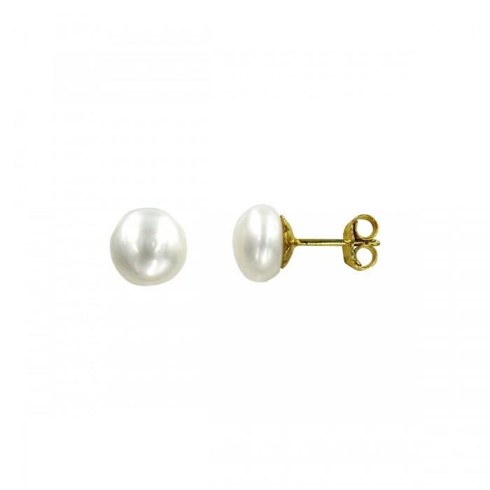 Σκουλαρίκια χρυσά 14Κ με μαργαριτάρι - MRS1010