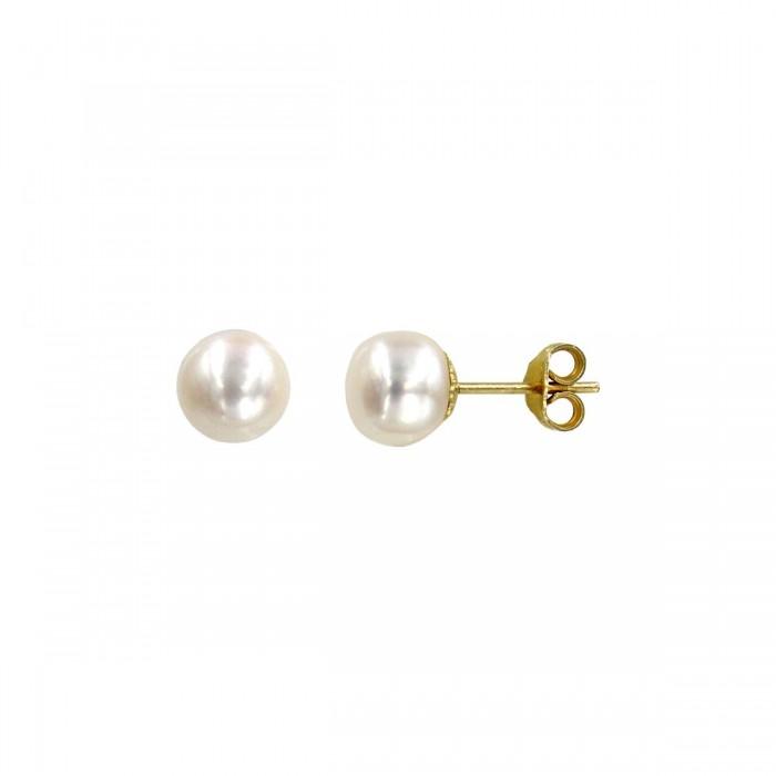 Σκουλαρίκια χρυσά 14Κ με μαργαριτάρι - MRS1012