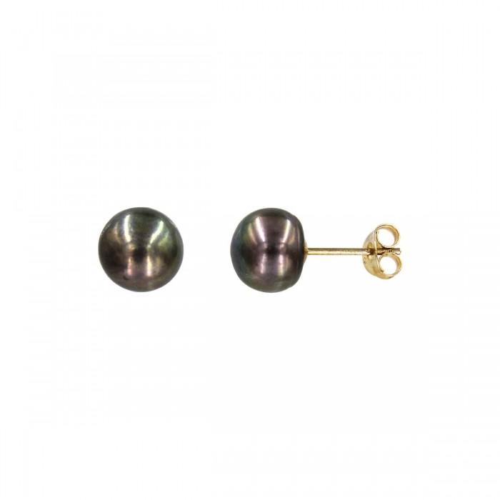 Σκουλαρίκια χρυσά 14Κ με μαργαριτάρι - MRS1040