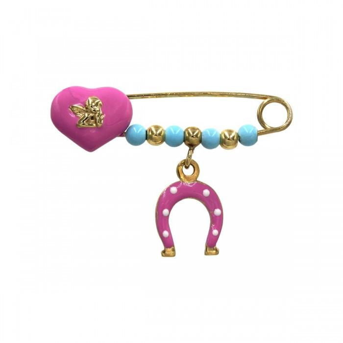 Παραμάνα κοριτσίστικη χρυσή 14Κ - P1008