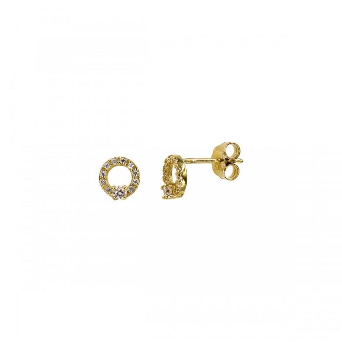 Σκουλαρίκια χρυσά 14Κ με ζιργκόν πέτρες - S1044