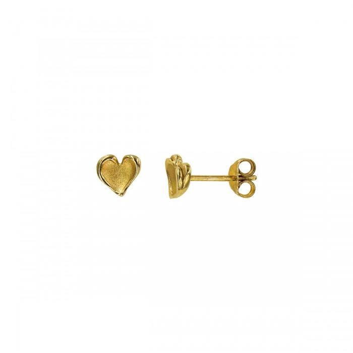Σκουλαρίκια καρδιά χρυσά 14Κ - S1055