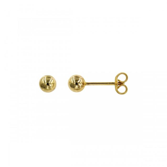 Σκουλαρίκια φούσκες χρυσά 14Κ - S1059