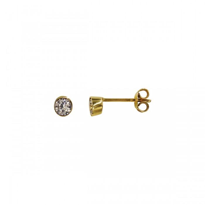 Σκουλαρίκια χρυσά 14Κ με ζιργκόν πέτρες - S1061