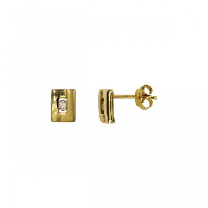 Σκουλαρίκια χρυσά 14Κ με ζιργκόν πέτρες - S1067