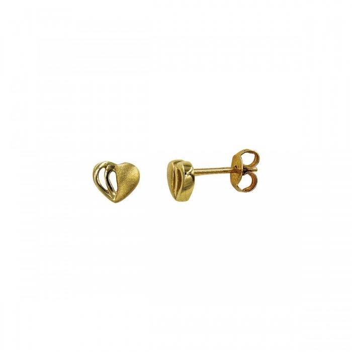 Σκουλαρίκια καρδιά χρυσά 14Κ - S1068