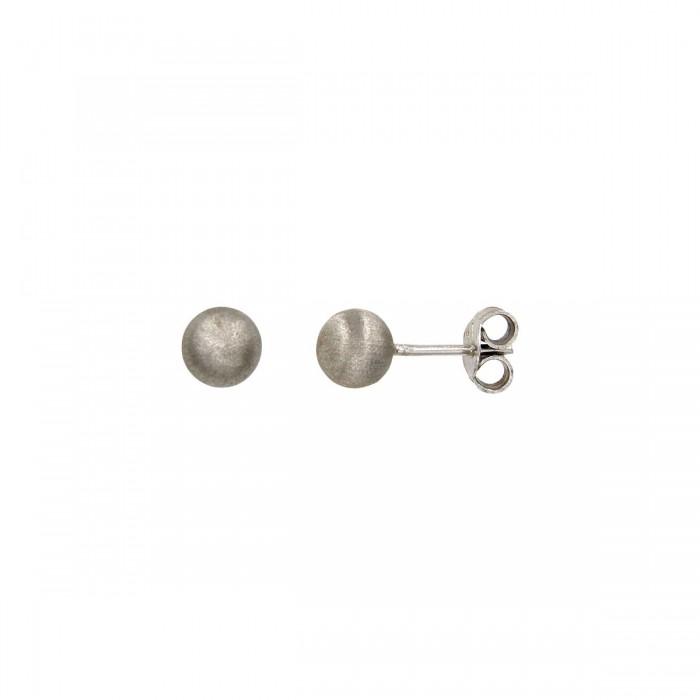 Σκουλαρίκια φούσκες λευκόχρυσα 14Κ - S1089