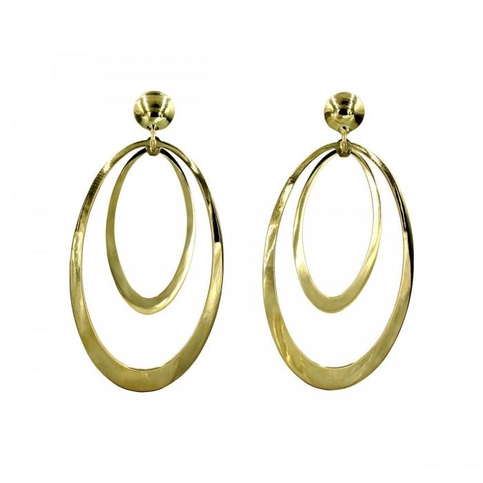 Σκουλαρίκια κρεμαστά χρυσά 14Κ - S1095