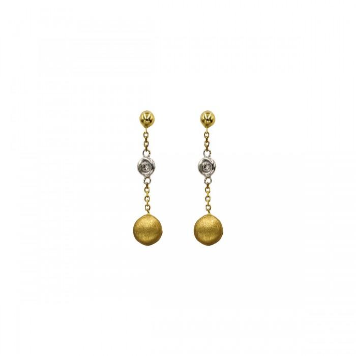Σκουλαρίκια κρεμαστά χρυσά 14Κ - S1102