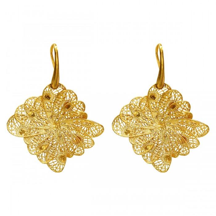 Σκουλαρίκια κρεμαστά χρυσά 14Κ - S1104