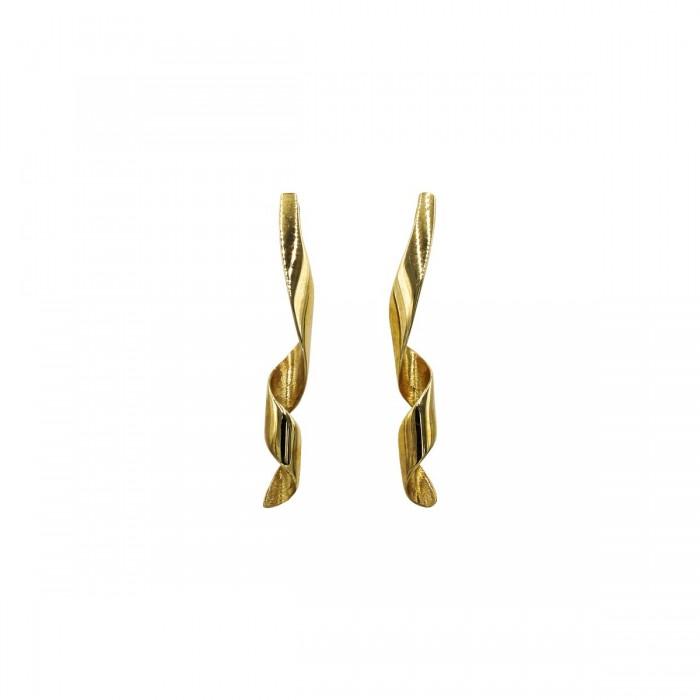 Σκουλαρίκια κρεμαστά χρυσά 14Κ - S1106