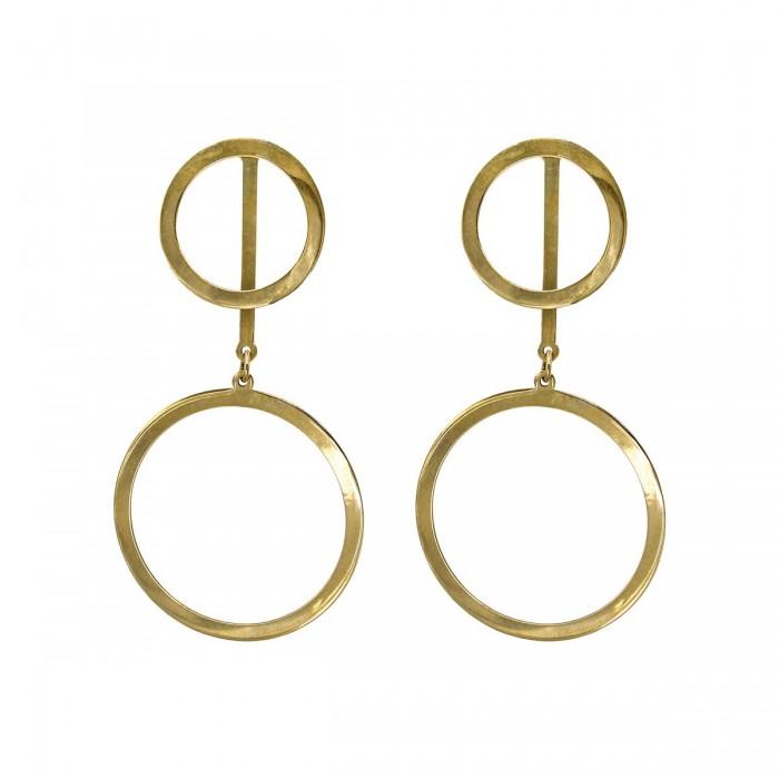 Σκουλαρίκια κρεμαστά χρυσά 14Κ - S1107