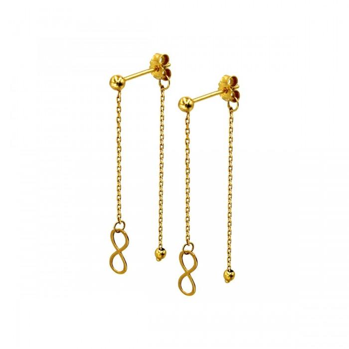 Σκουλαρίκια κρεμαστά χρυσά 14Κ - S1110