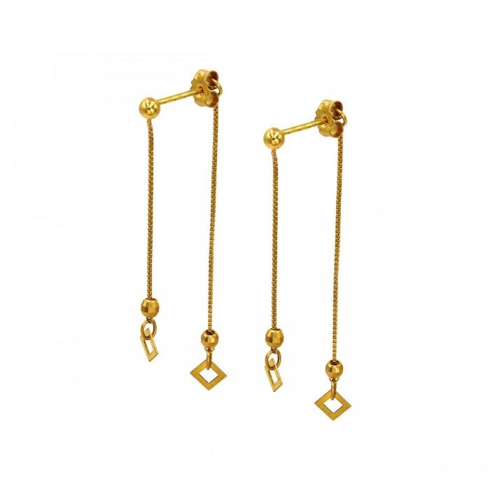 Σκουλαρίκια κρεμαστά χρυσά 14Κ - S1111