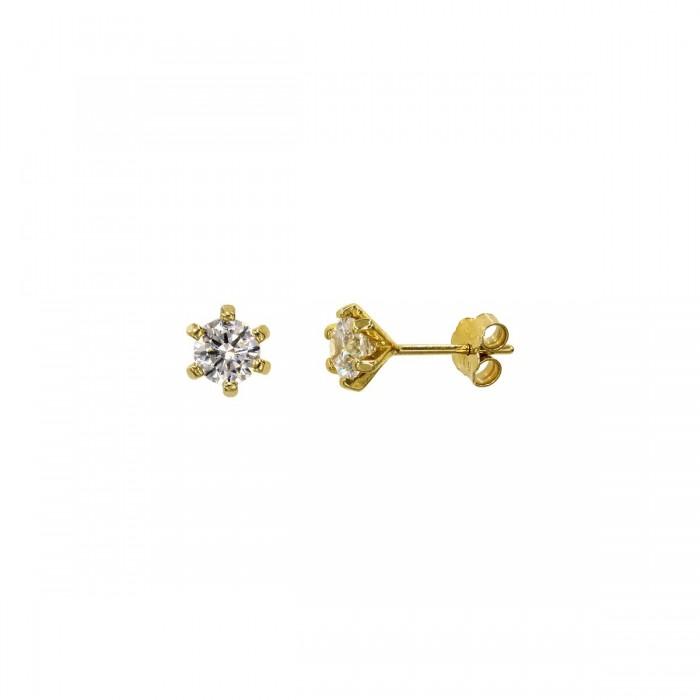 Σκουλαρίκια χρυσά 14Κ με ζιργκόν πέτρες - S1136