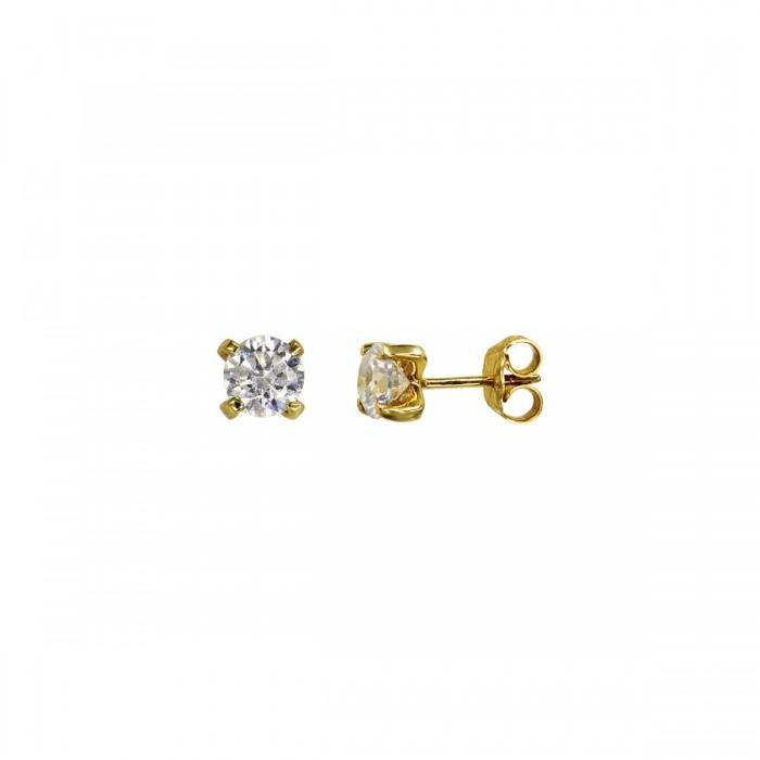 Σκουλαρίκια χρυσά 14Κ με ζιργκόν πέτρες - S1140