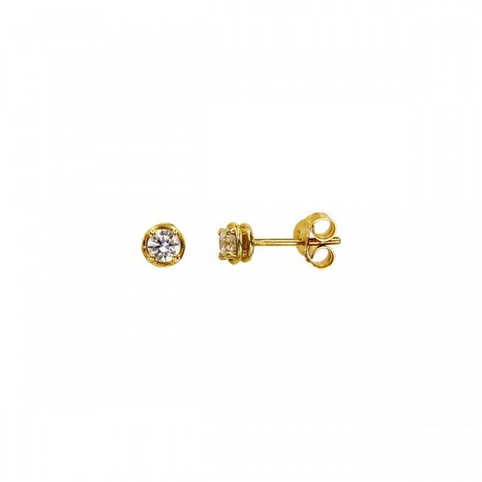 Σκουλαρίκια χρυσά 14Κ με ζιργκόν πέτρες - S1145