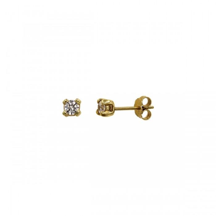 Σκουλαρίκια χρυσά 14Κ με ζιργκόν πέτρες - S1146