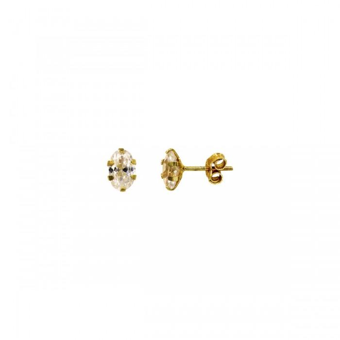 Σκουλαρίκια χρυσά 14Κ με ζιργκόν πέτρες - S1148