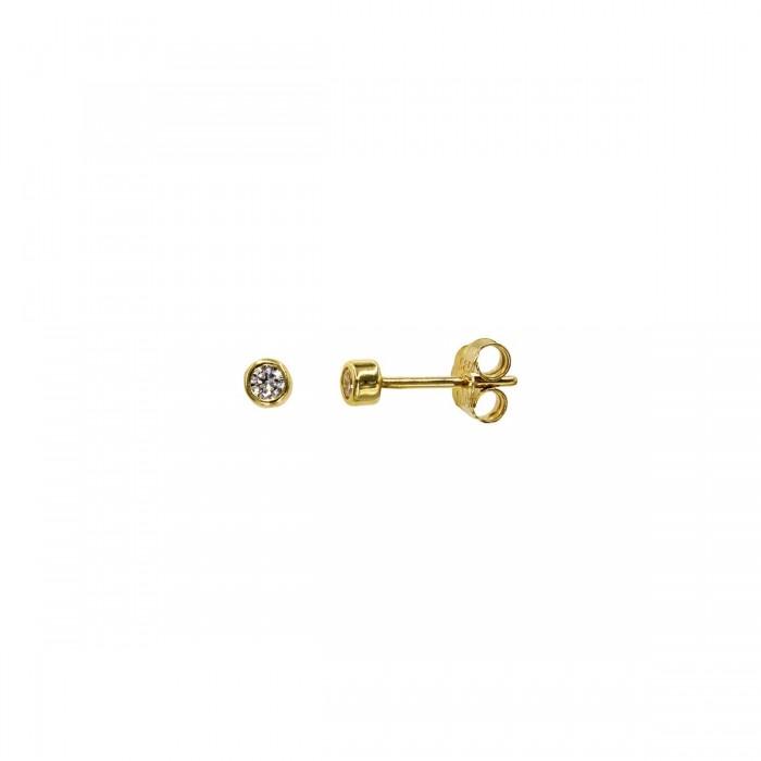 Σκουλαρίκια χρυσά 14Κ με ζιργκόν πέτρες - S1150